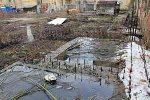 Обследование недостроенного здания. 2014 год