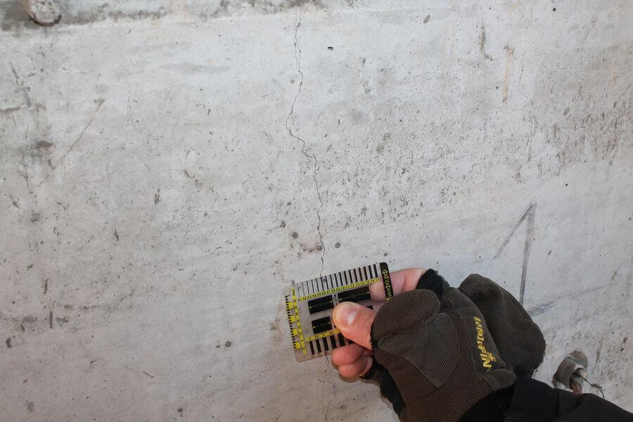 Измерение ширины раскрытия трещин
